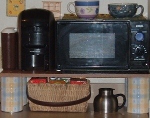 microwave shelf