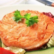Salmon Patty on a Plate
