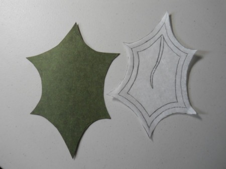 Leaf tissue pattern and template.