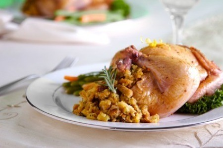 Cornish Game Hen with Rice