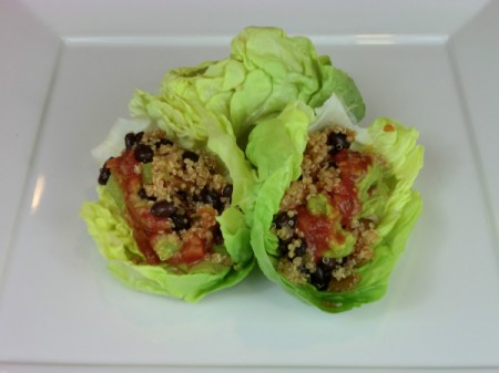 finished lettuce wraps