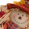 Photo of a handmade Thanksgiving scarecrow.