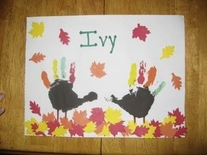 Handprint Turkey Art