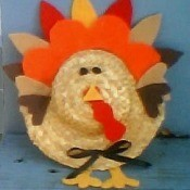 Thanksgiving turkey craft.