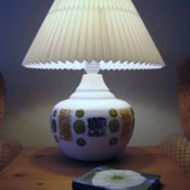 Decorated Ceramic Lamp