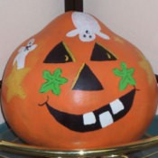 Painted Halloween Gourds