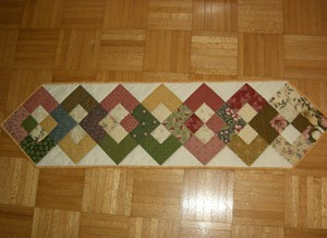 Quilted table runner.