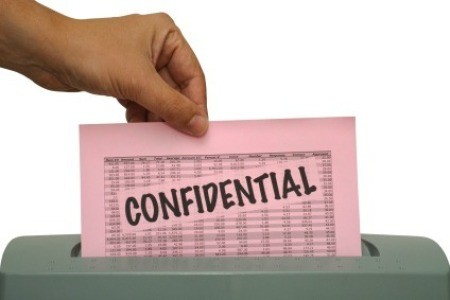 Shredding Confidential Document