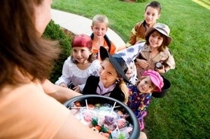 Children out trick or treating
