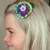 Making Yo Yo Barrettes