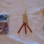 Beads used to make ears of corn magnet.