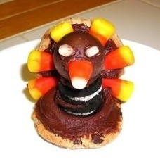 Cookies and candy corn turkeys.