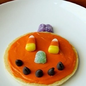 Decorated Pumpkin Pancake