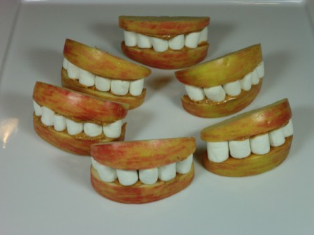 finished apple mouths