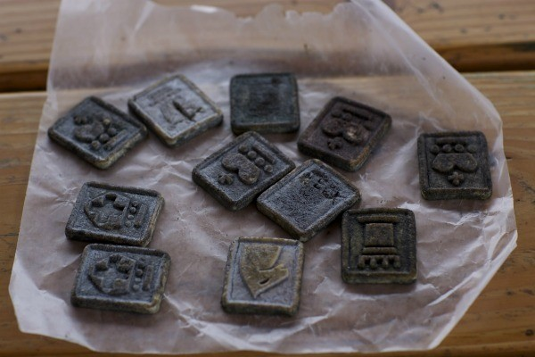 Cookies decorated as gravestones