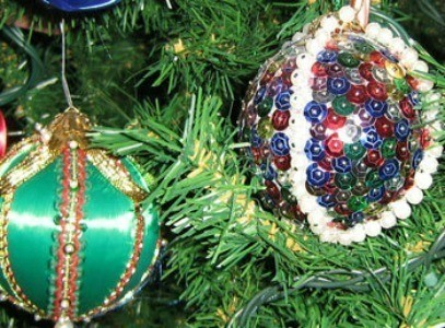 Making Bead and Sequin Ornaments