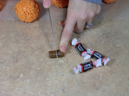 cut tootsie rolls in half