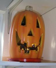 Pumpkin decoration.