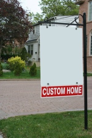 A photo of a real estate sign.