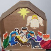 Nativity Scene from Ornaments