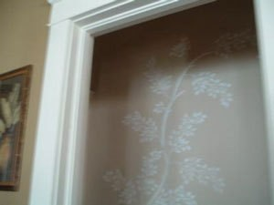 Raised Stenciling With Spackle