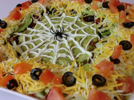 finished layered dip