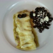 mummy enchilada on plate