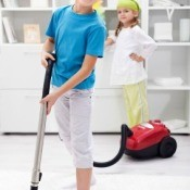 Children Vacuum Cleaning