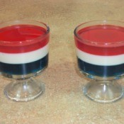 Red, White, and Blue Jello Parfait