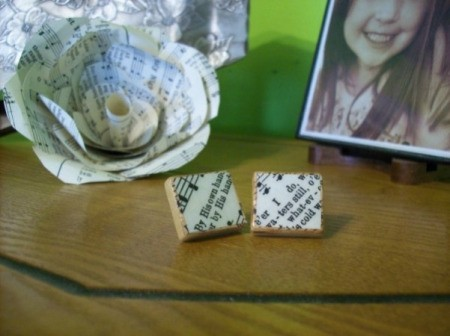 Decoupage Scrabble Tile Earrings