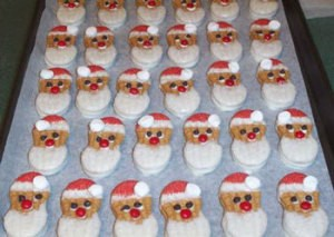 No Bake Santa Cookies