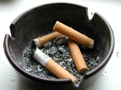 Ashtray Full of Cigarettes