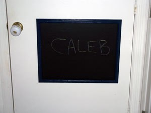 A Framed Door Chalkboard