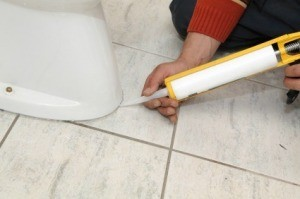 Re-Caulking Around Toilet