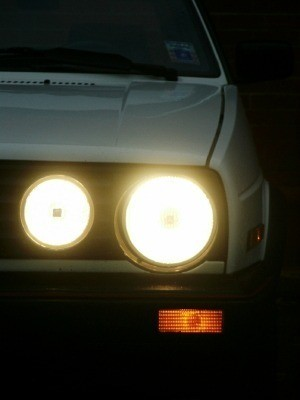 Hazy Headlights on VW Rabbit
