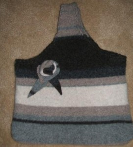 Felted sweater bag.