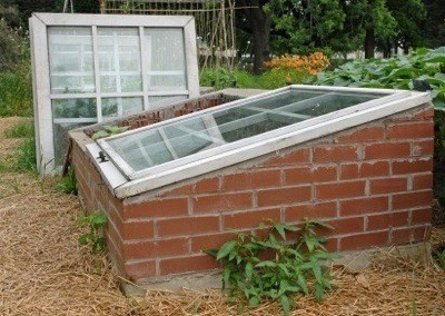 A brick cold frame