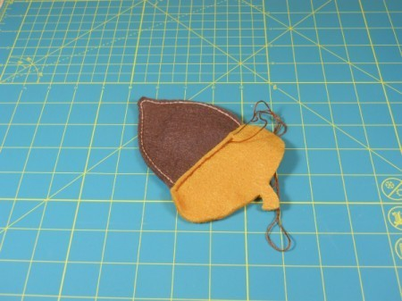 Attaching acorn cap.
