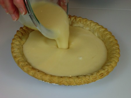 adding filling to shell