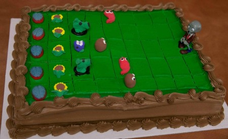 Making a Plants vs. Zombies Cake