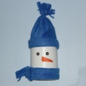 Snowman made from a Bleach Bottle.