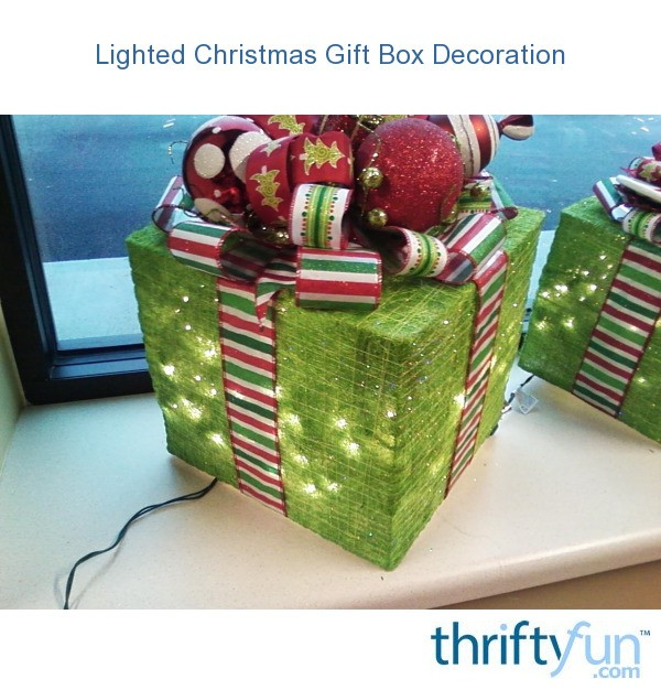 Lighted christmas gift box decoration fancy g