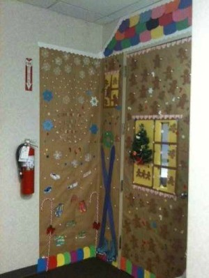 Office Door Christmas Decoration