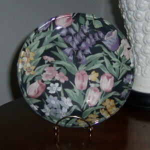 Fabric Covered Decorative Glass Plate