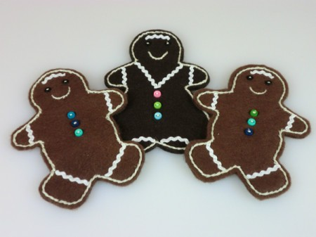 finished gingerbread ornaments