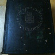 Blue bound volume of Columbia encyclopedia.