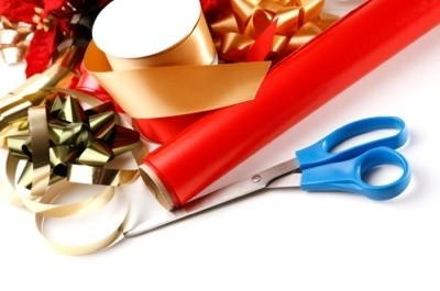 Wrapping paper, bows and supplies
