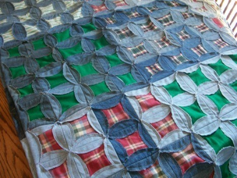 Quilt Made From Old Clothing