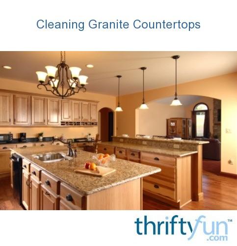 Cleaning Granite Countertops ThriftyFun