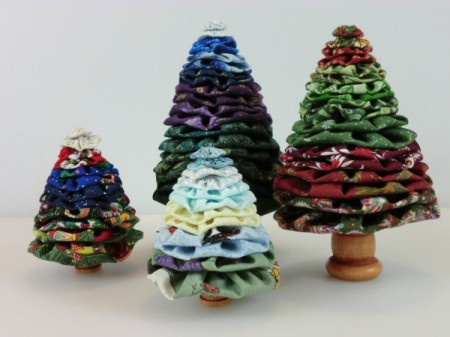 Group of four yo yo trees.